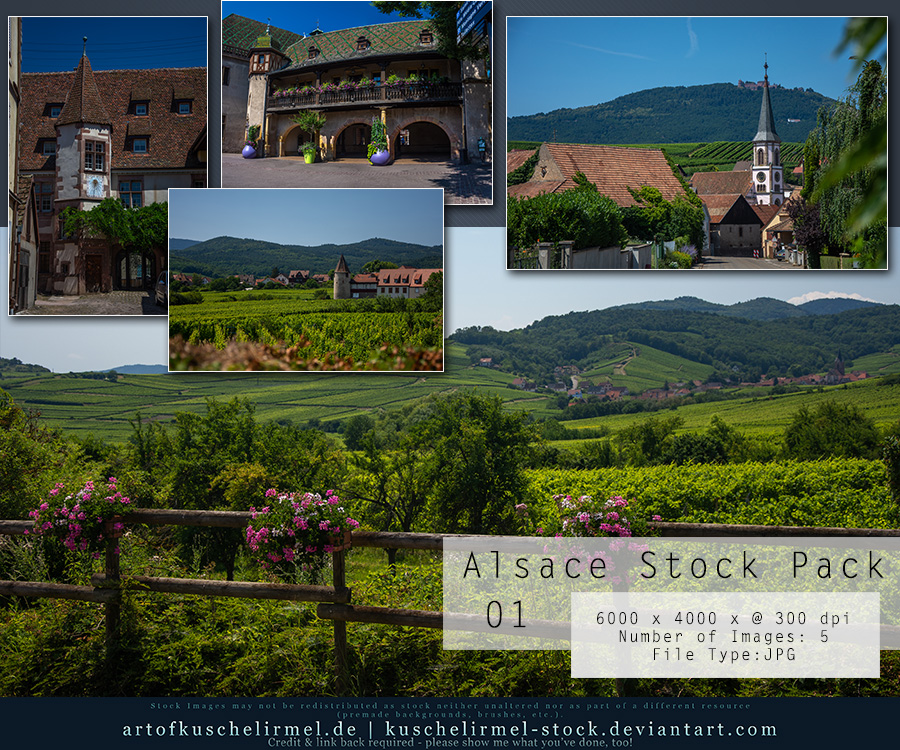 Alsace Stock Pack 01 by kuschelirmel-stock