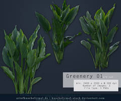 Greenery 01 Pre-Cut Stock by kuschelirmel-stock