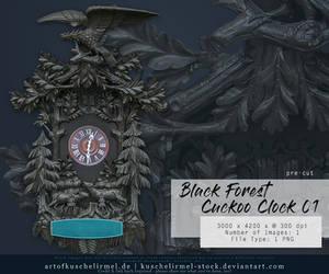 Black Forest Cuckoo Clock 01 precut by kuschelirmel-stock