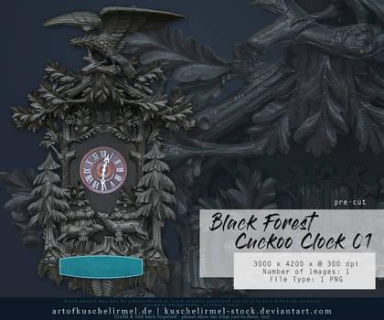 Black Forest Cuckoo Clock 01 precut