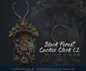 Black Forest Cuckoo Clock 02 Precut Stock by kuschelirmel-stock
