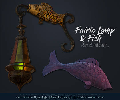 Fairie Lamp and Fish Cut Out
