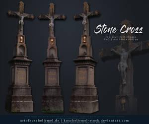 Stone Cross precut by kuschelirmel-stock