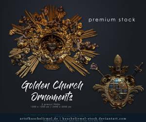 Golden Church Ornaments precut premium by kuschelirmel-stock