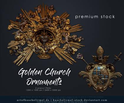 Golden Church Ornaments precut premium
