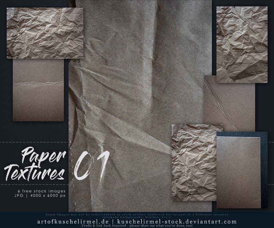 Paper Textures 01 by kuschelirmel-stock
