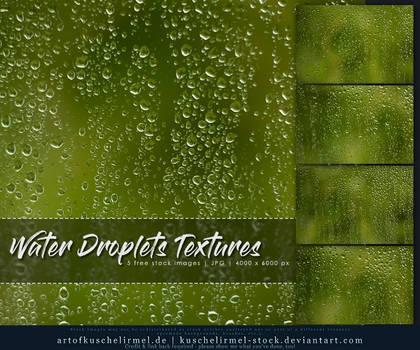 Water Droplets Textures by kuschelirmel-stock