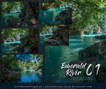 Emerald River 01 Stock Pack by kuschelirmel-stock