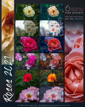 Roses 2021 - Free Lightroom + CameraRAW Presets