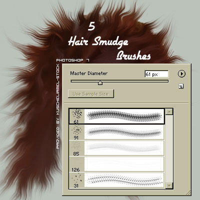 Photoshop HAIR brushes pack 09