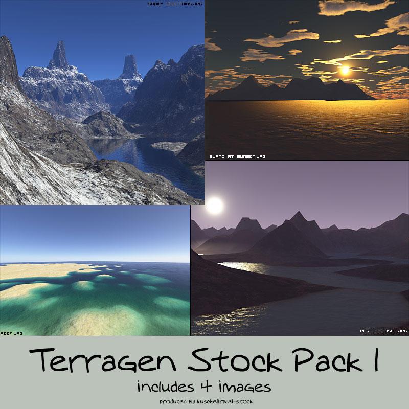 stock pack - terragen 1 by kuschelirmel-stock