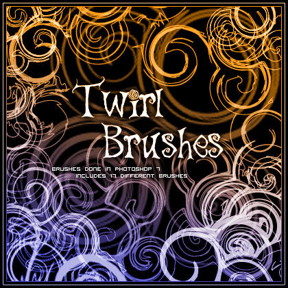 Twirl Brushes 1 by kuschelirmel-stock