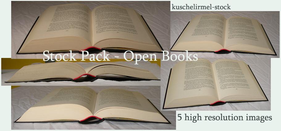 Stock Pack - Open Books by kuschelirmel-stock