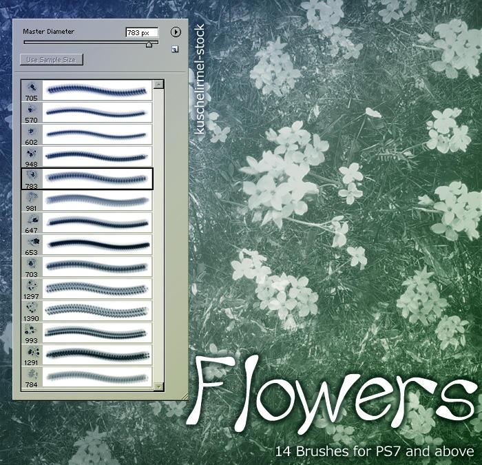 Flower Brushes by kuschelirmel-stock