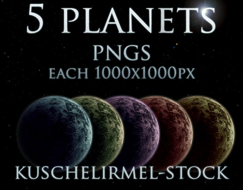 Planets Stock Pack by kuschelirmel-stock