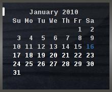 Python Script - Conky Calendar by AnonymousLink