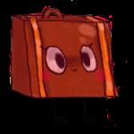 warm suitcase by LemonCrowns