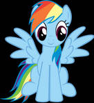 Rainbow Dash Cursor -Normal Select : Left-