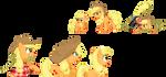 Applejack Evolution Line [Ponymon] by kirigakurenohaku
