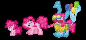 Pinkie Pie Evolution Line [Ponymon] by kirigakurenohaku