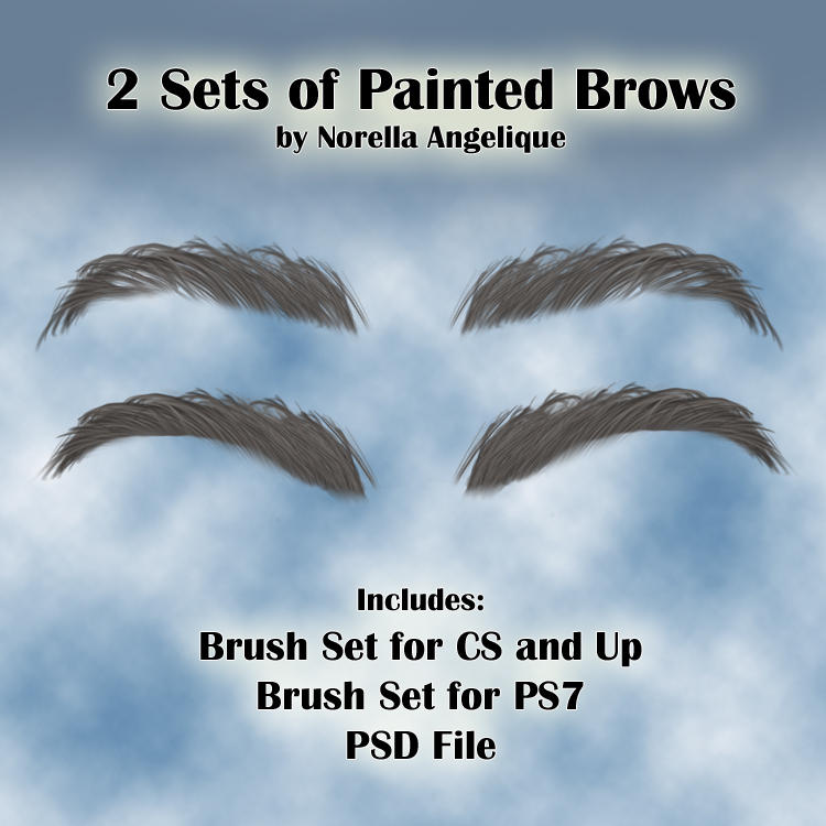 Stock Painted Eyebrows Brush By Norellaangelique On
