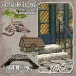 STOCK - Bridge, Tree, Cottage