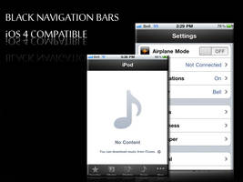 Black Navigation Bars - iOS 4