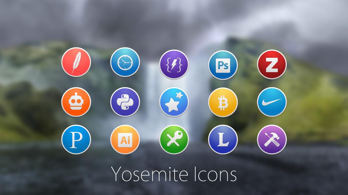Custom Round Yosemite Icons by PauloRuberto