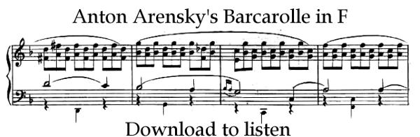 Anton Arensky-Barcarolle in F by AdamCuerden
