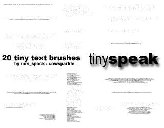 Tinyspeak - tiny text brushes by MrsSpock