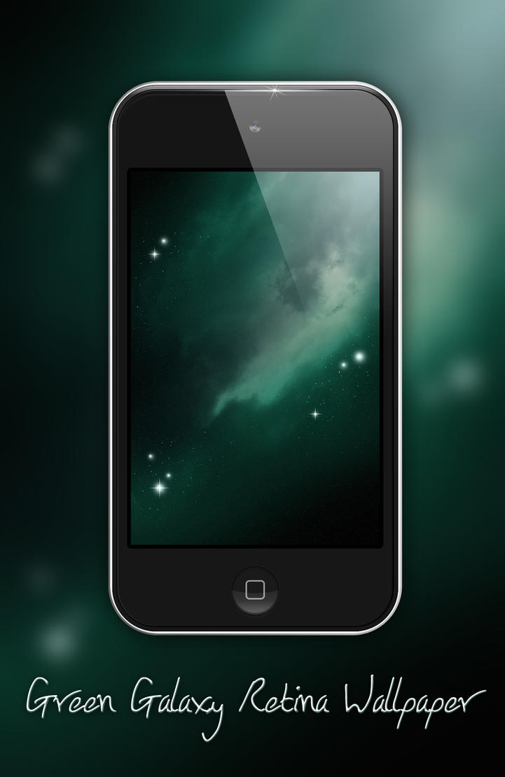 Green Galaxy Retina Wallpaper Iphone Ipod Touch By