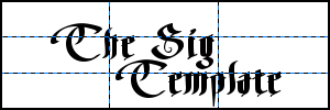 The Sig Template for the GiMP by LDS-Jedi