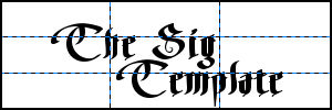 The Sig Template for the GiMP