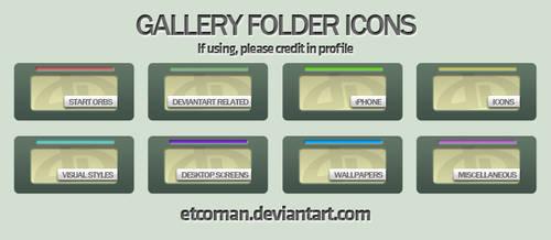 Matte Gallery Folders by etcoman