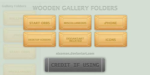 Wooden Gallery Folders by etcoman