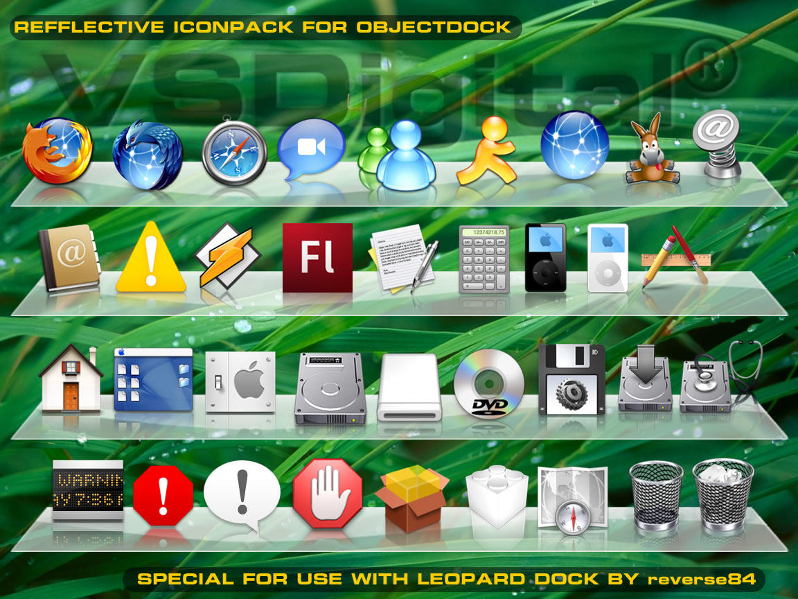 OSX Refflective Iconset 1 by vsdigital