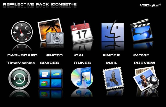 Refflective Iconset 2 Leopard by vsdigital