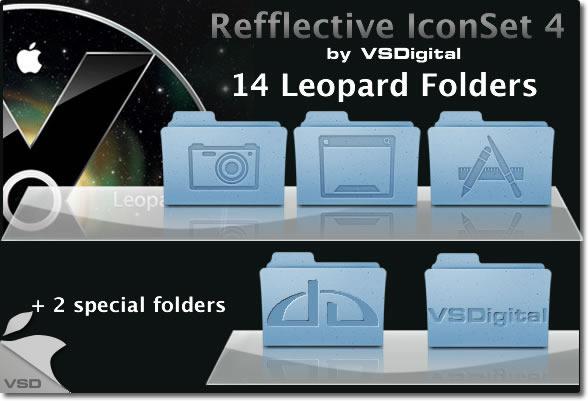 Leopard Refflective IconSet 4