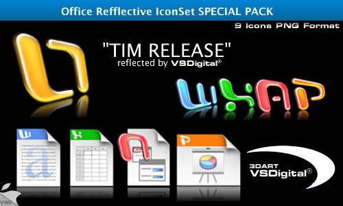 Refflective Office IconSet by vsdigital