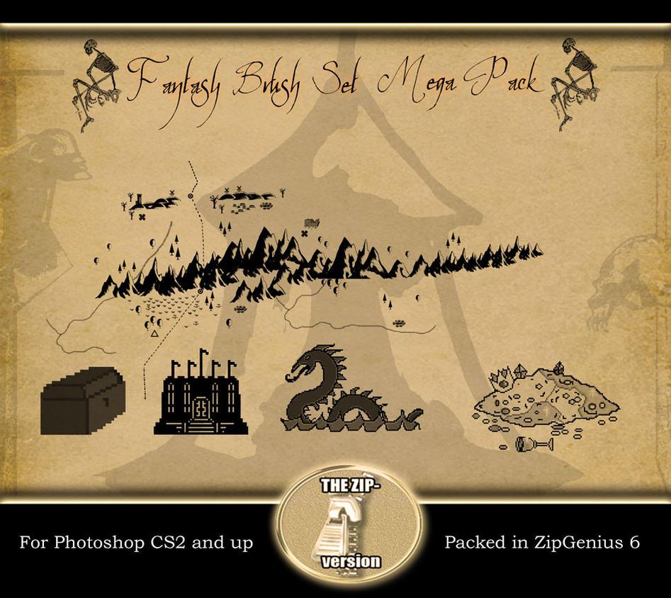 Fantasy Brush Set 2 Mega Pack by mawstock