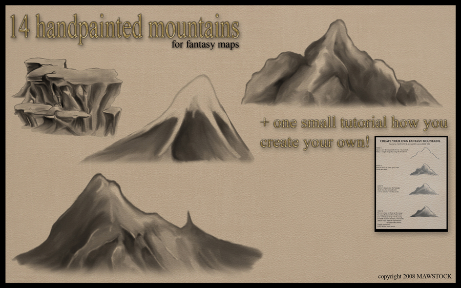 Handpainted Mountains