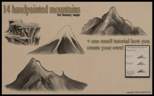 Handpainted Mountains by mawstock