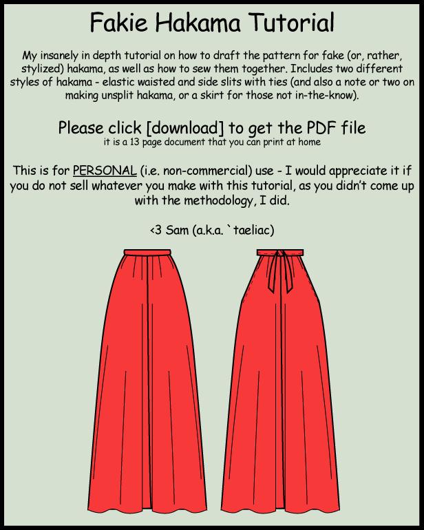 Tutorial: Make your own hakama by taeliac