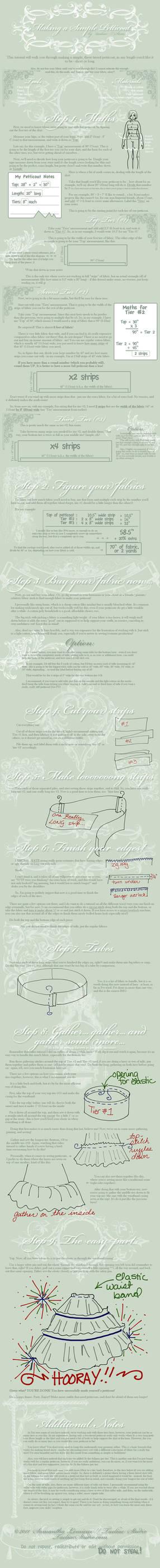 Tutorial: Making a Petticoat