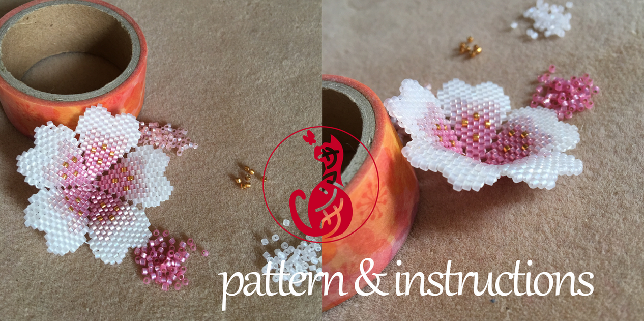 Pattern: Beaded Sakura Blossom by taeliac
