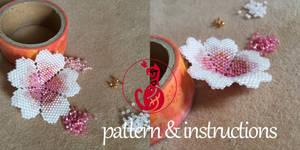 Pattern: Beaded Sakura Blossom