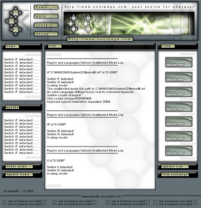 Just another web interface by warpath