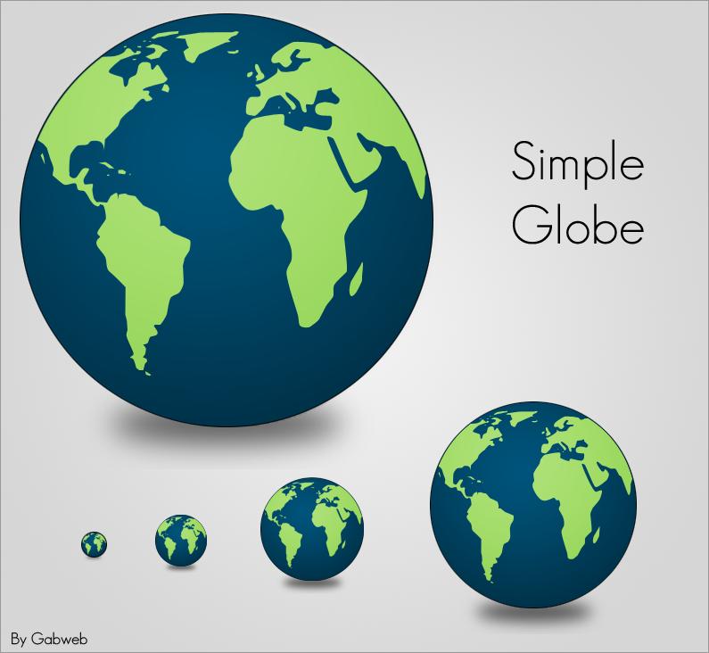 Simple Globe Icon by Gabweb