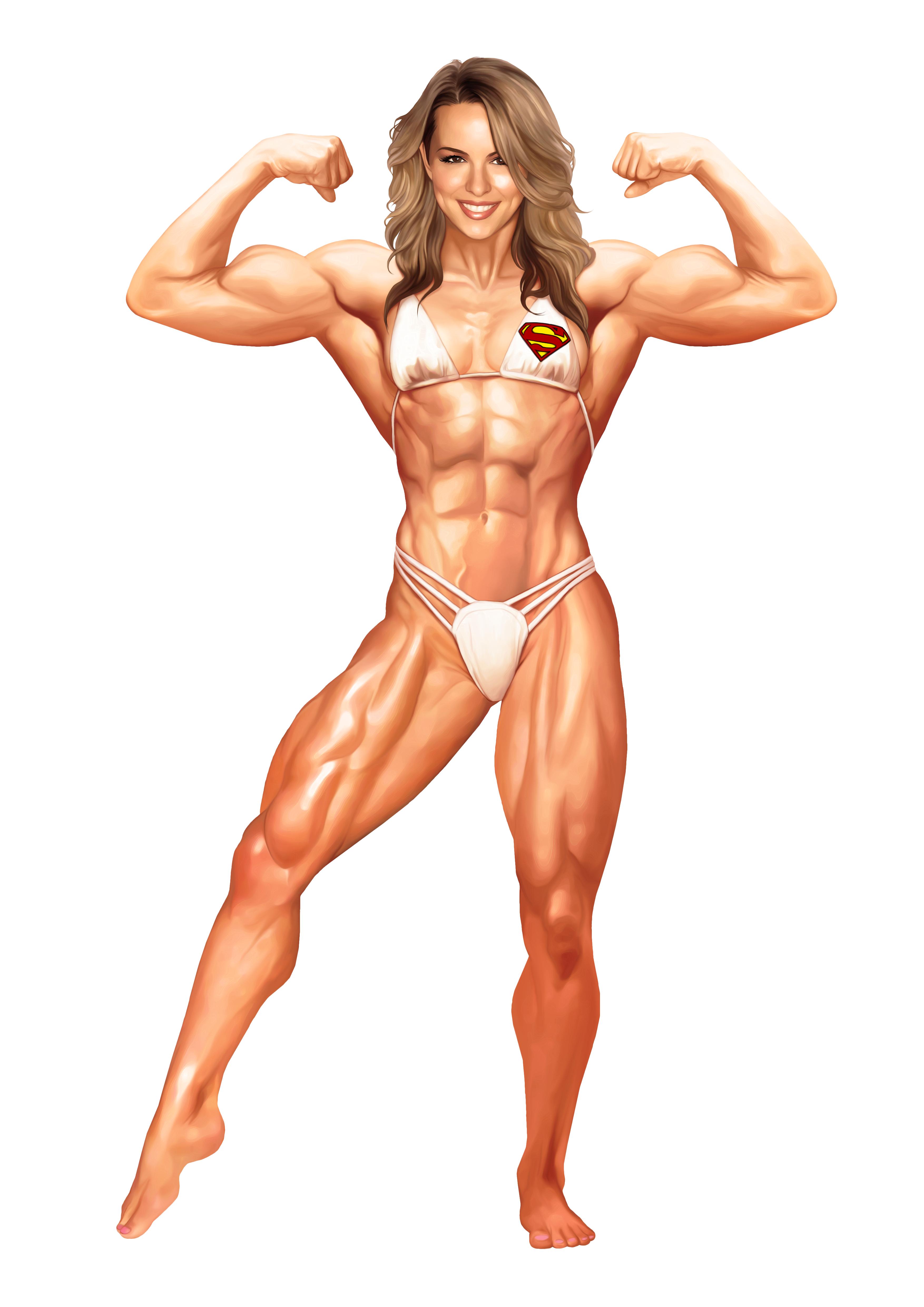 конец меня рисованная мускулистая женщина черт возьми, они