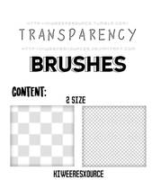 Transparency brushes by kiweeresxources